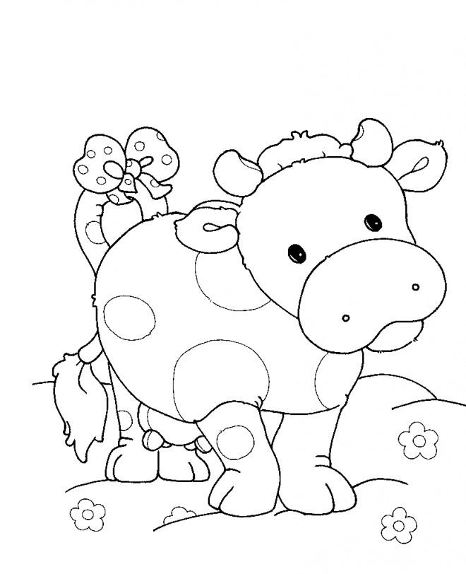 Coloriage et dessins gratuits Boeuf en ligne à imprimer