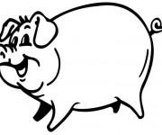 Coloriage dessin  Cochon 1