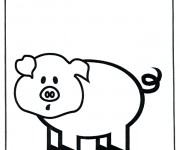Coloriage dessin  Cochon 16