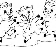 Coloriage dessin  Cochon 5