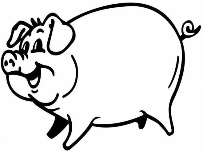 Coloriage De Cochon Pirate.Coloriage Cochon Avec Le Sourire Dessin Gratuit A Imprimer