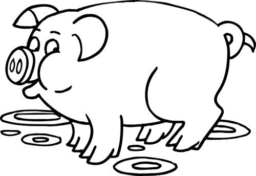 Coloriage cochon couleur dessin gratuit imprimer - Dessin cochon mignon ...