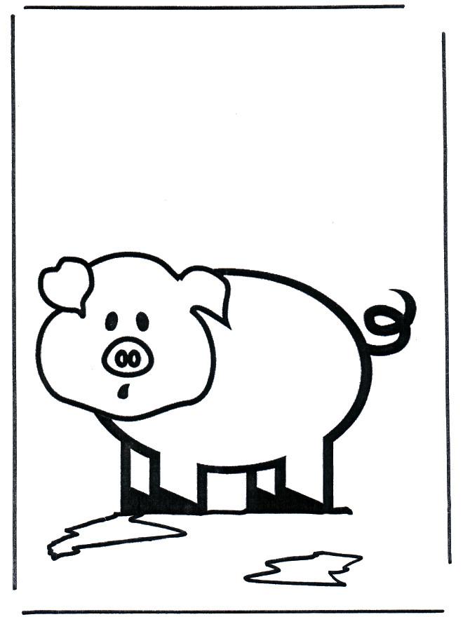 Coloriage et dessins gratuits Cochon facile à imprimer