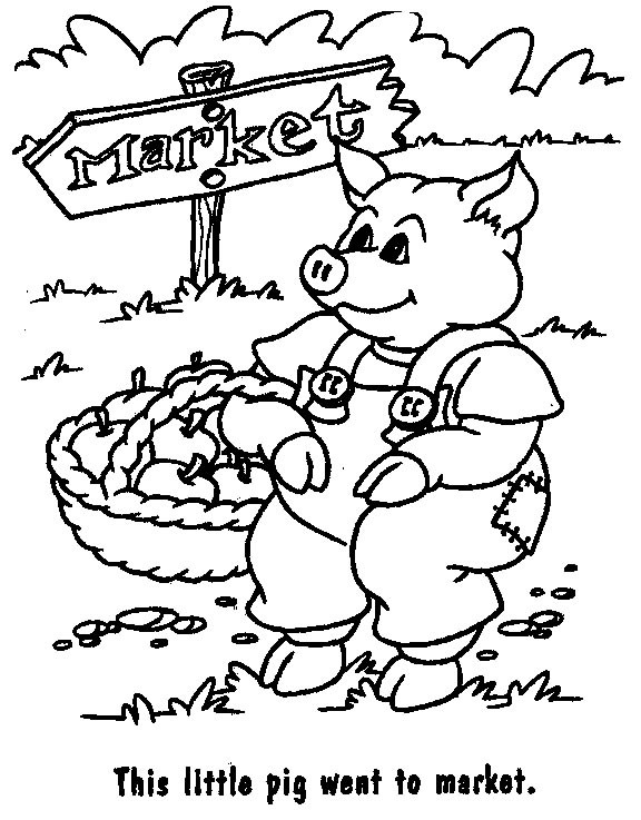 Coloriage et dessins gratuits Cochon paysan à imprimer