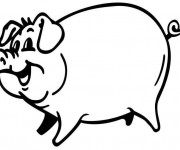 Coloriage Cochon souriant