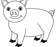 Coloriage et dessins gratuit Cochon stylisé à imprimer