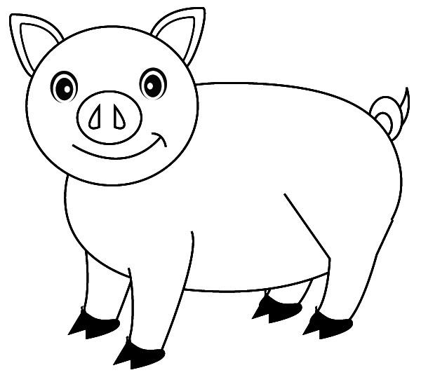 Coloriage cochon stylis dessin gratuit imprimer - Dessin cochon ...
