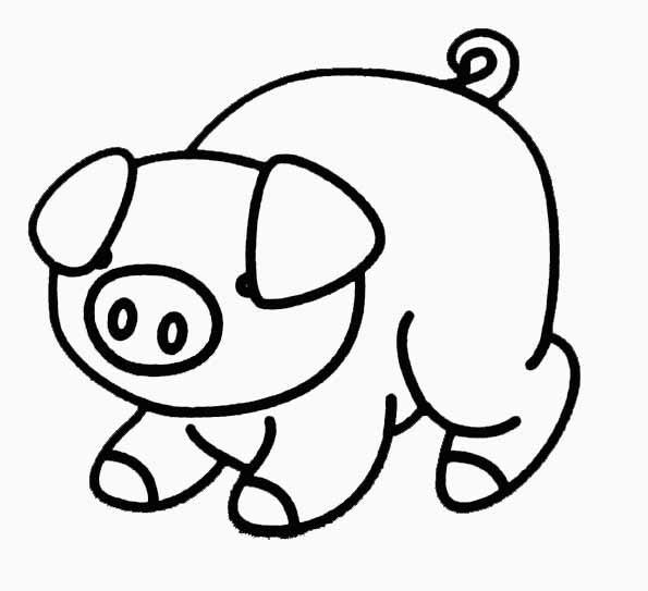 Coloriage De Cochon Gratuit.Coloriage Cochon Timide Dessin Gratuit A Imprimer