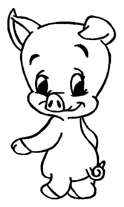 Coloriage et dessins gratuits Le Cochon sympathique à imprimer