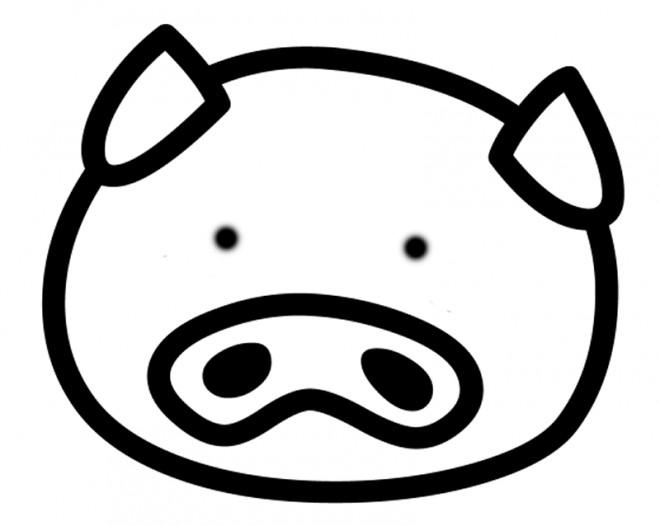Coloriage Tete De Cochon.Coloriage Tete Cochon Vecteur Dessin Gratuit A Imprimer
