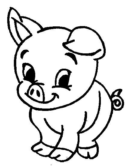 Coloriage De Cochon Gratuit.Coloriage Un Bebe Cochon Dessin Gratuit A Imprimer