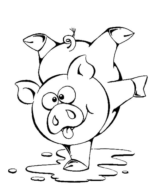 Coloriage et dessins gratuits Un Cochon sportif à imprimer