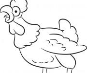 Coloriage et dessins gratuit Coq 10 à imprimer