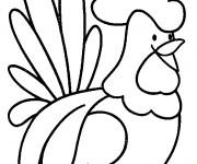 Coloriage et dessins gratuit Coq 18 à imprimer