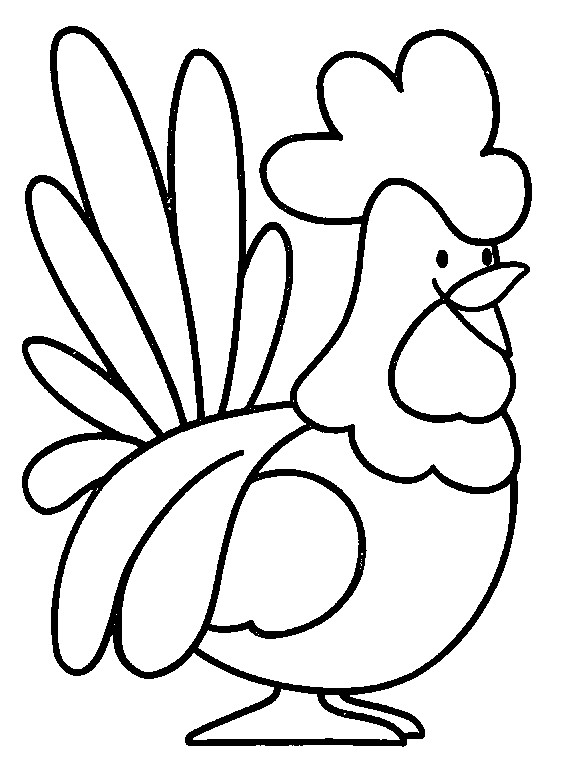 Coloriage et dessins gratuits Coq 18 à imprimer