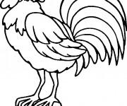 Coloriage et dessins gratuit Coq 4 à imprimer