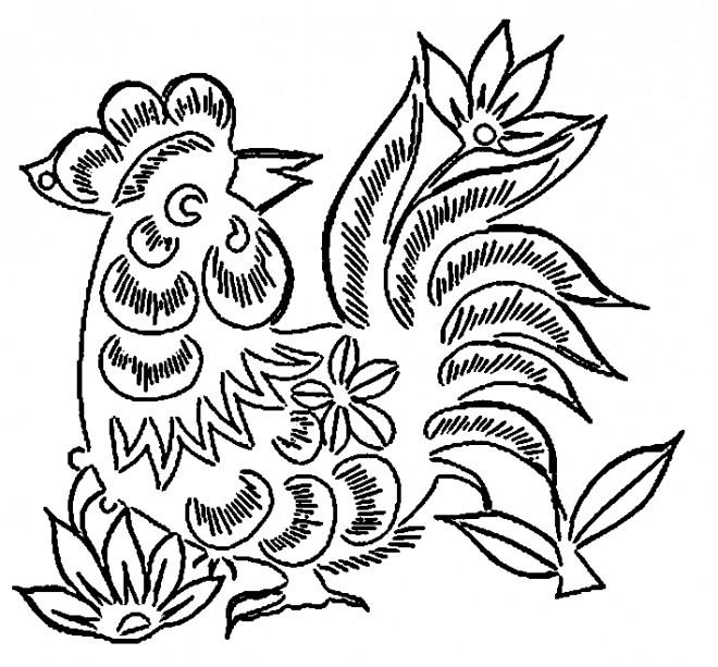 Coloriage et dessins gratuits Coq 42 à imprimer
