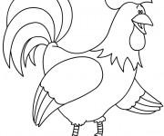 Coloriage et dessins gratuit Coq 6 à imprimer