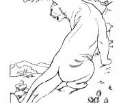Coloriage et dessins gratuit Cougars regard les gazelles à imprimer