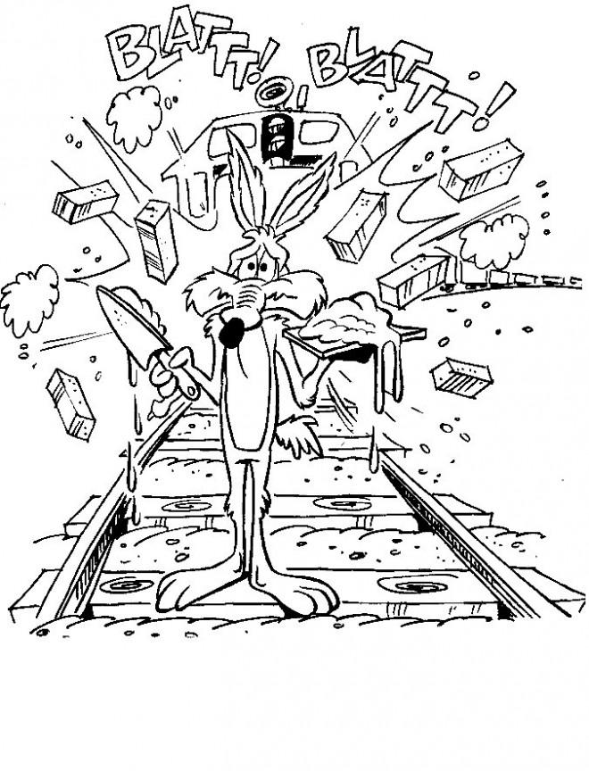 Coloriage et dessins gratuits Coyote drôle à imprimer