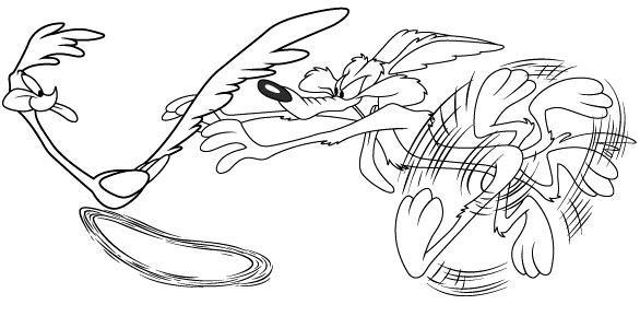 Coloriage et dessins gratuits Coyote et Bip Bip dessin animé à imprimer