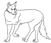 Coloriage Coyote facile