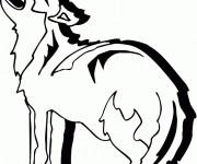 Coloriage et dessins gratuit Coyote vecteur à imprimer