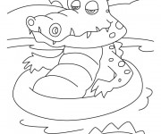 Coloriage dessin  Crocodile 14