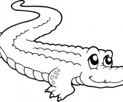 Coloriage dessin  Crocodile 5