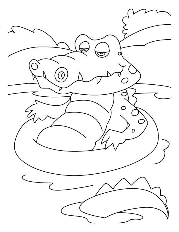 Coloriage Crocodile Dans L Eau Dessin Gratuit à Imprimer