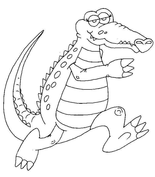 Coloriage crocodile en sautant dessin gratuit imprimer - Crocodile en dessin ...