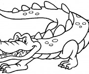 Coloriage Crocodile malin