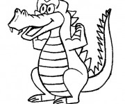 Coloriage Crocodile musclé amusant