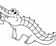 Coloriage Crocodile porte une fleure