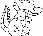 Coloriage Crocodile souriant