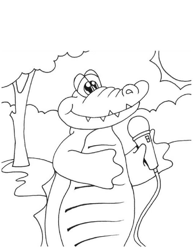 Coloriage le crocodile chanteur dessin gratuit imprimer - Dessin anime de crocodile ...