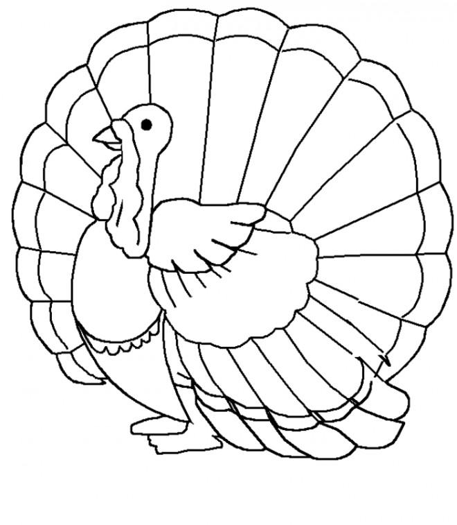 Coloriage et dessins gratuits Dinde ouvrant ses ailes à imprimer