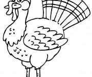 Coloriage et dessins gratuit Dinde qui porte un joli chapeau à imprimer