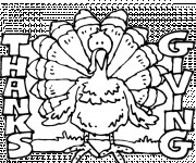 Coloriage Dinde Thanksgiving