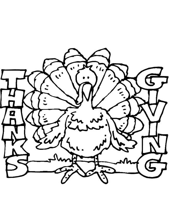 Coloriage et dessins gratuits Dinde Thanksgiving à imprimer