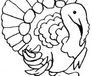 Coloriage dessin  Dindon 10