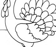 Coloriage et dessins gratuit Dindon en plein air à imprimer