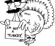 Coloriage et dessins gratuit Dindon humoristique à imprimer