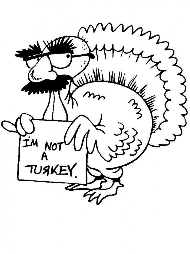 Coloriage et dessins gratuits Dindon humoristique à imprimer