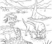 Coloriage Age de Dinosaures