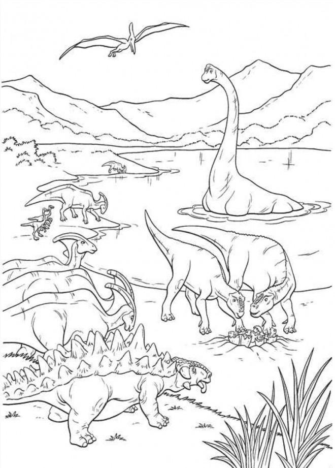 Coloriage et dessins gratuits Age de Dinosaures à imprimer