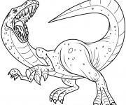 Coloriage et dessins gratuit Dessin de dinosaure Tyrex à imprimer