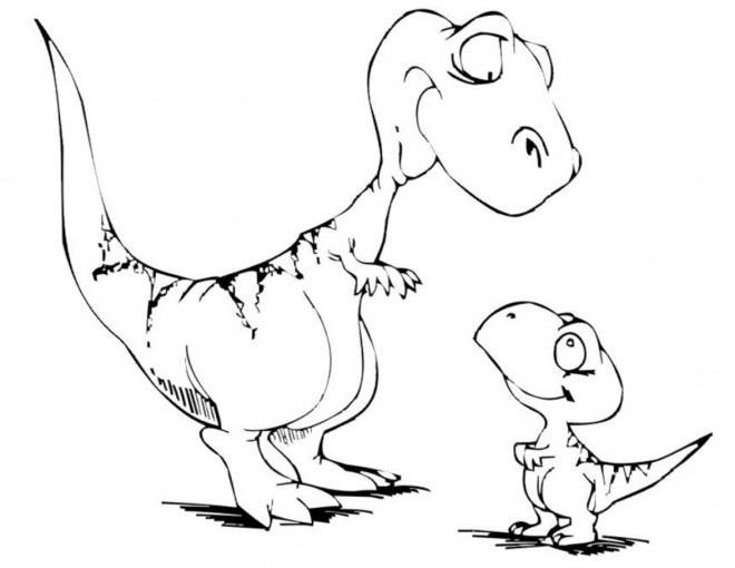coloriage deux petits dinosaures dessin gratuit imprimer. Black Bedroom Furniture Sets. Home Design Ideas