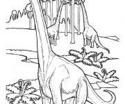 Coloriage dessin  Dinosaure 13