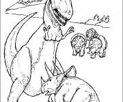 Coloriage dessin  Dinosaure 15